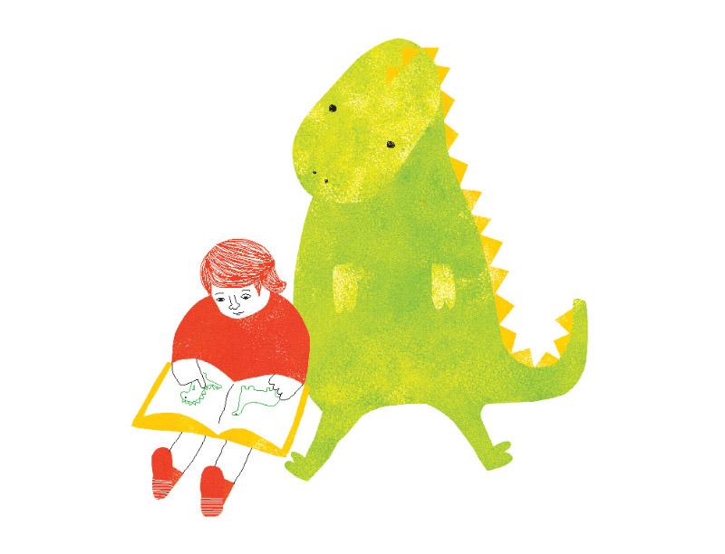 El niño y el dinosaurio