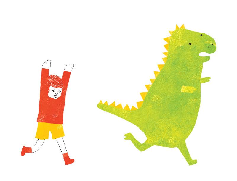 Jazmin Villagrán El niño y el dinosaurio