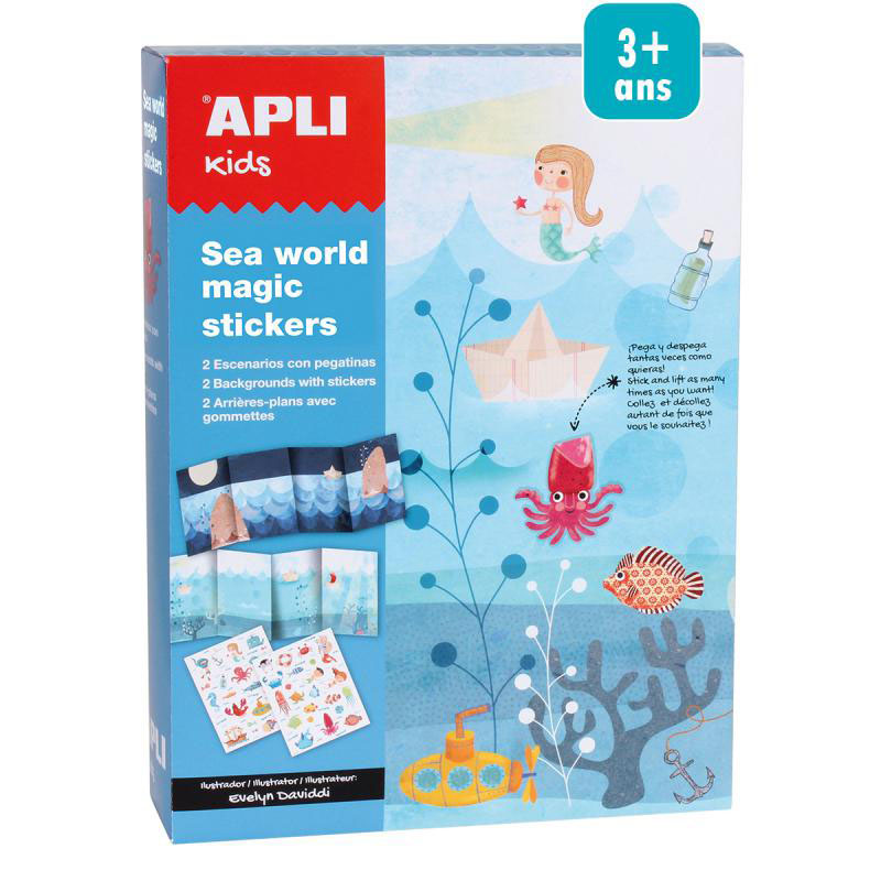 Stickerts Mundo Marino · APLI Kids