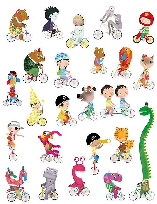 Jacobo muñiz APLI Bicycle magic stickers