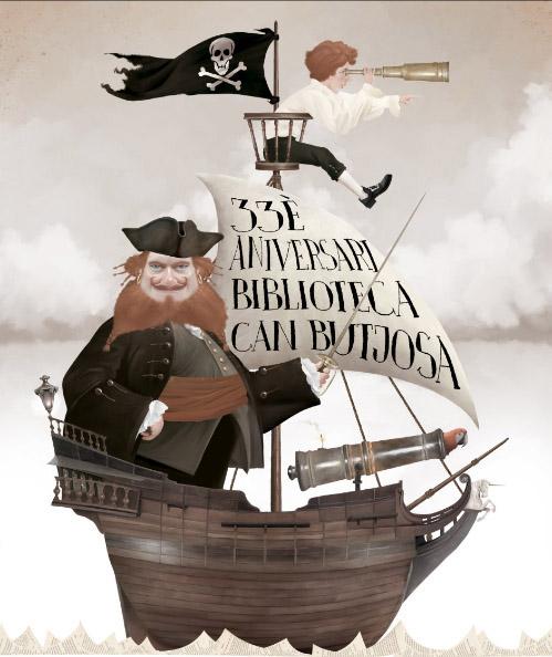 Cartel aniversario · Biblioteca Can Butjosa