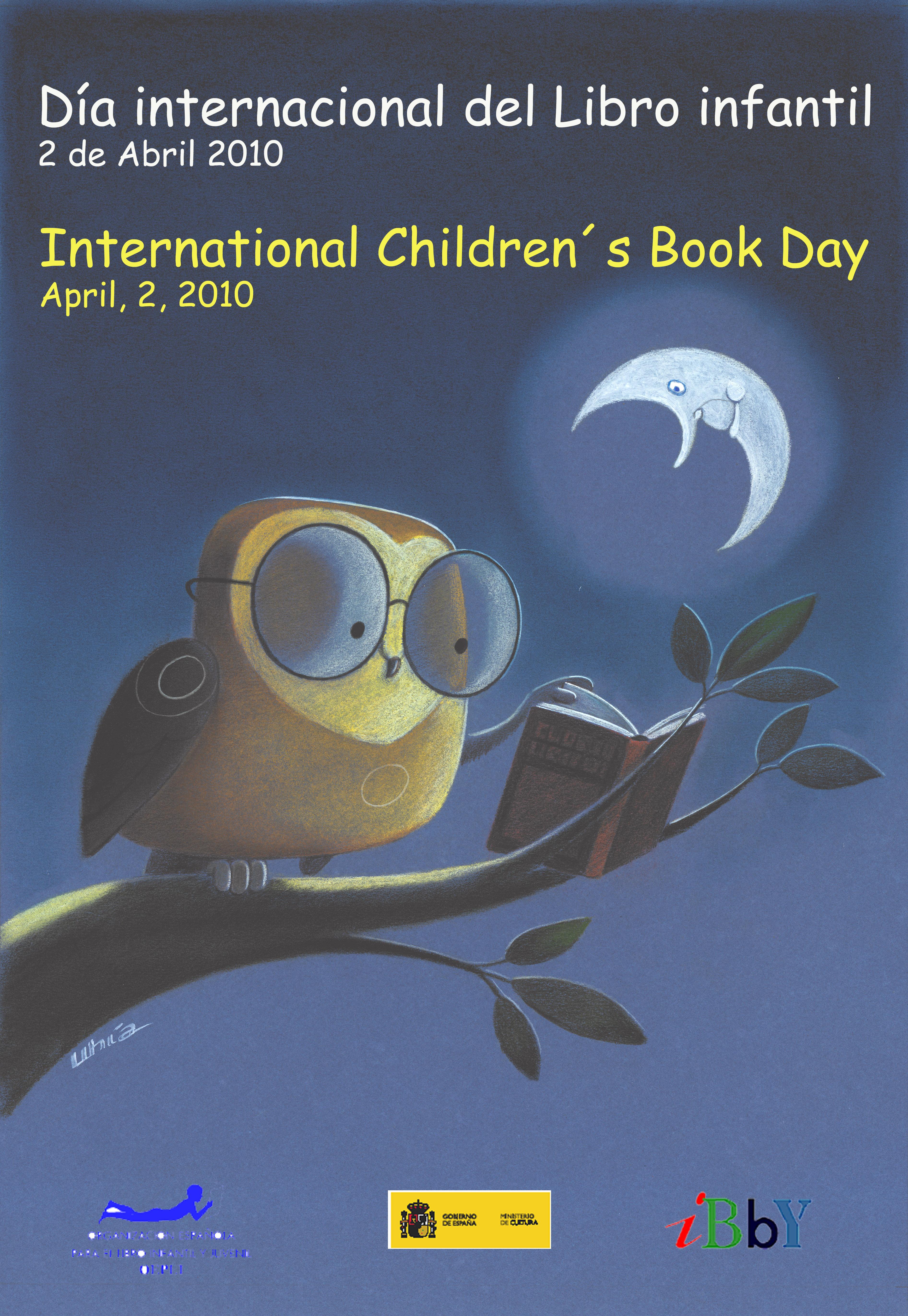 Cartel Día internacional del Libro infantil· Gobierno de España