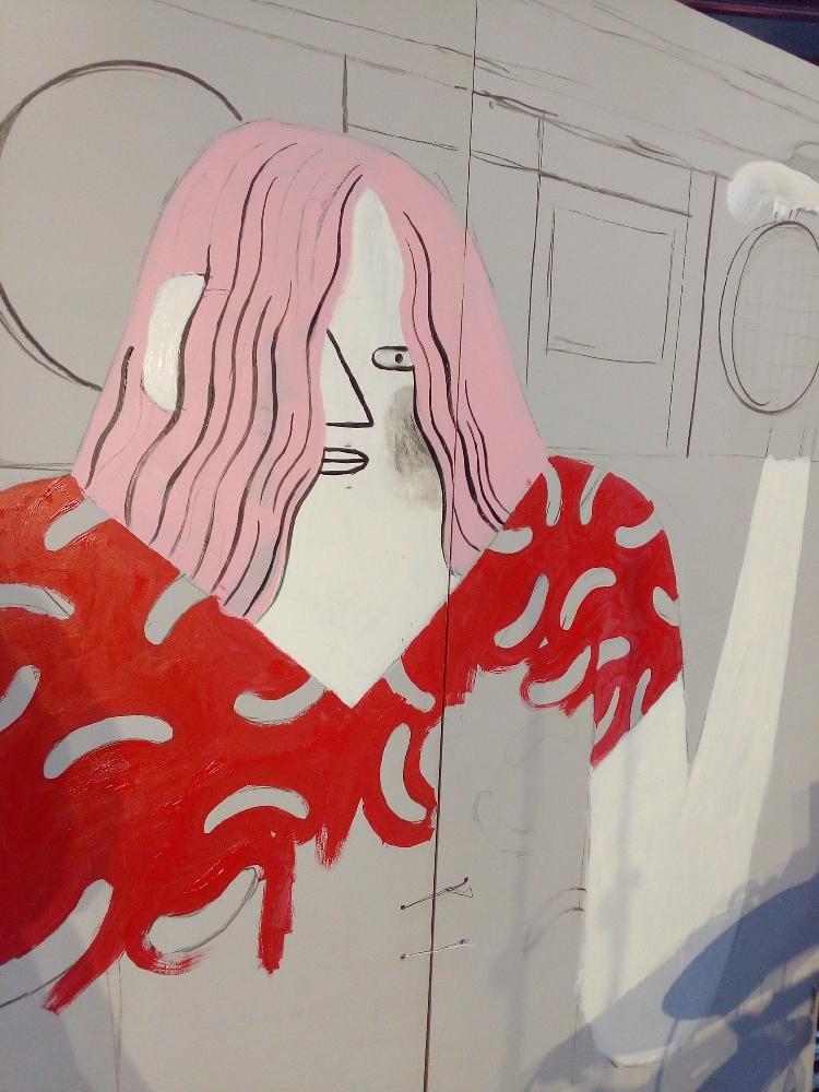 Dibujo en vivo en el Reina Sofía