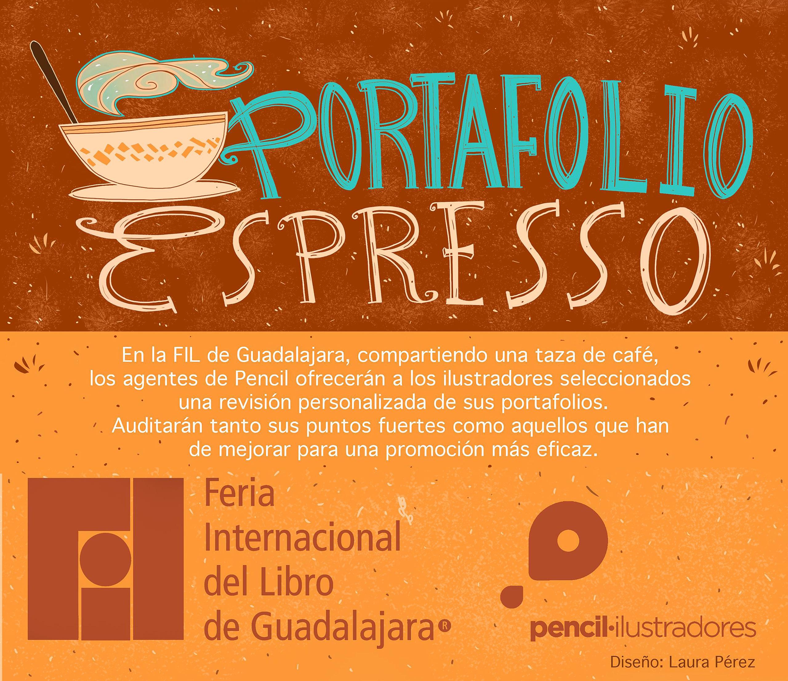 Revisión de portafolios en la FIL de Guadalajara (México)