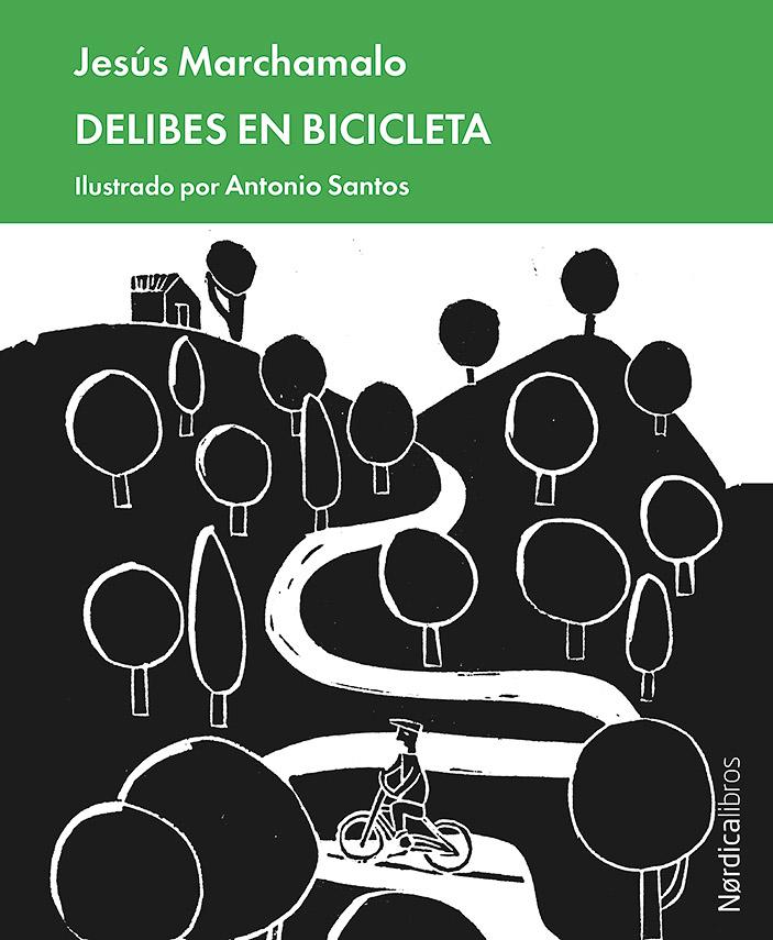 Antonio Santos Delibes en bicicleta