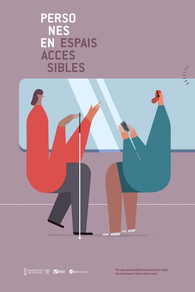Persones en espais accessibles · Ferrocarrils de Generalitat Valenciana