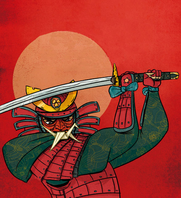 A dobradura do samurai · Moderna