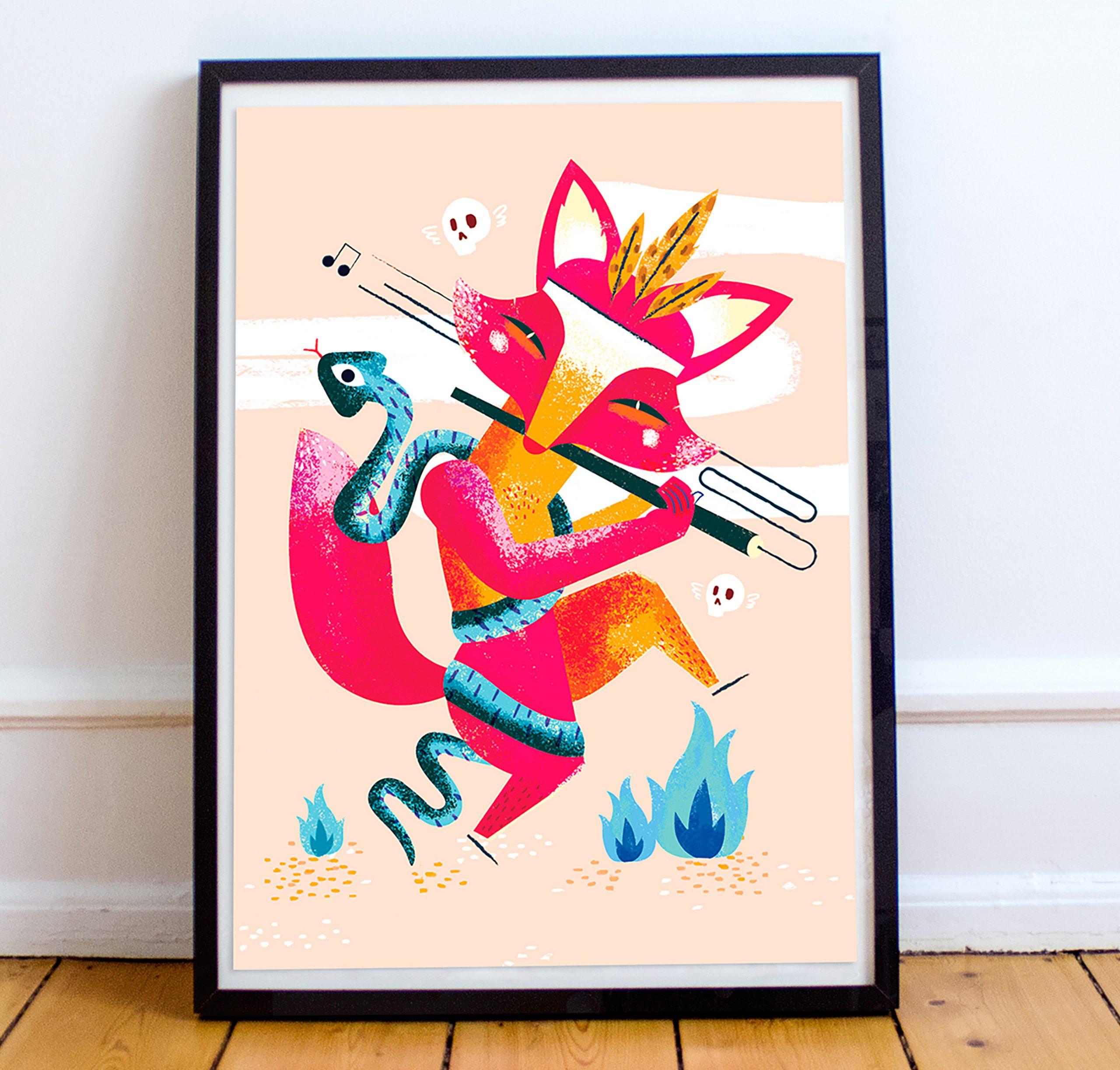 Ritual del zorro rojo · Print